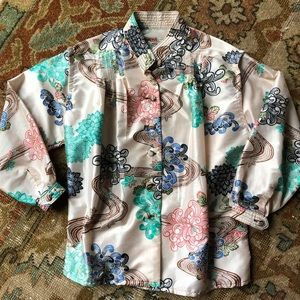 Tops - Vintage Silk Shantung Tailor Made Blouse